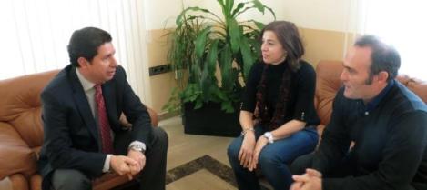 Sevilla con los profesores responsables del proyecto